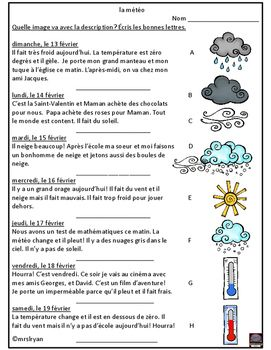 Reading comprehension with weather expressions is the focus of this product…