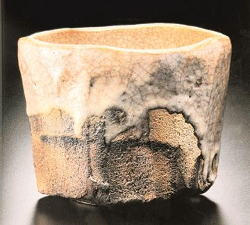 Raku tea bowls originated in Japan in the late 16th Century. Small, austere and often irregular-shaped bowls were made for the purpose of drinking powdered green tea during the Zen Buddhist tea ceremony.