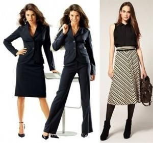 Женский костюм для невысоких женщин
