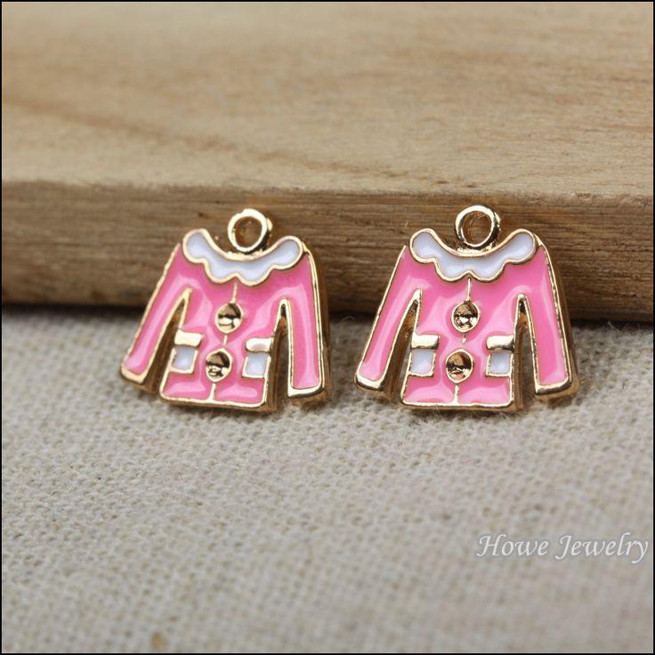 Ретро розовой эмалью шарм одежды , чтобы ювелирные изделия металлические ожерелья P010