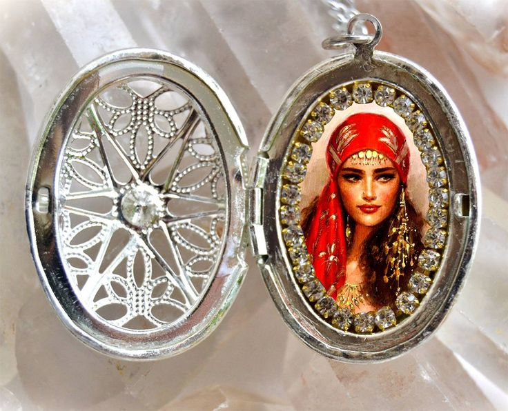 Excited to share the latest addition to my Etsy​ shop: Gipsy Woman Locket; Handmade Necklace Honor to Saint Sarah Kali ; Gypsies Catholic Religious Jewelry Medal Pendant http://etsy.me/2CW9sMZ