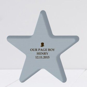 Engraved Wooden Blue Star Weddding Keepsake Now With Next Day Delivery Option Find This Pin And More On Page Boy Gifts