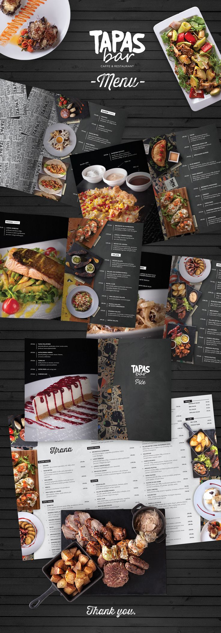 Menu design for Tapas Bar RestaurantDesign: Borko NerićPhotography: Strahinja Marković