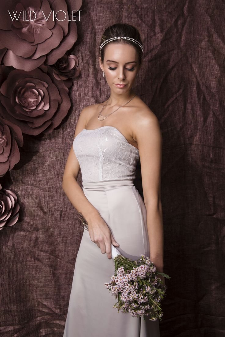 SAMANTHA //we're in love! modern chic bridesmaid dress with soft lace bodice with a soft sweetheart neckline// http://wildvioleteveningwear.com.au/product/samantha/