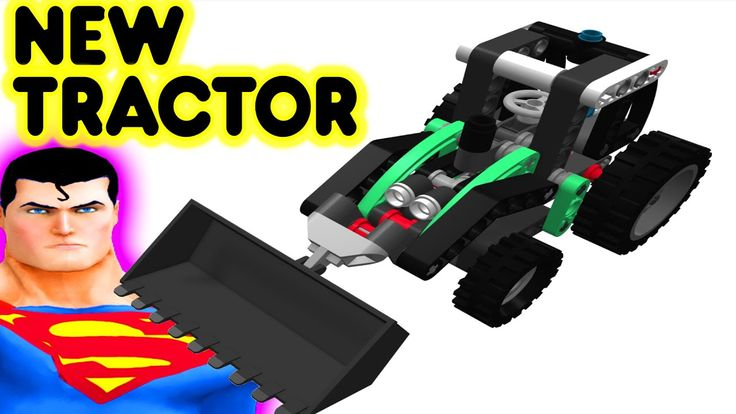 Toy Lego New Tractor With Superman Superhero Construction Video For Kids And Children #toytractor #legotractor