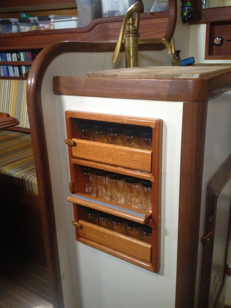 Small Boat Projects - Making Life Aboard Easier: Spice Rack--- or shot glass holder!