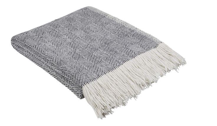 ephedra plaid noir blanc 130x170 wish list blanket. Black Bedroom Furniture Sets. Home Design Ideas