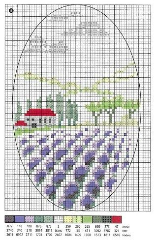Lavender Field Free Cross Stitch Chart