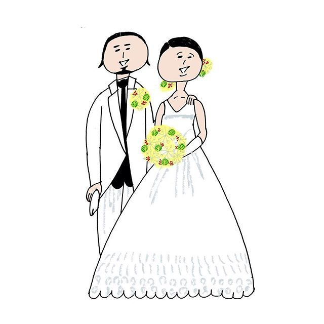 Thank you for your order! これからも末永くお幸せに…♡ #結婚おめでとうございます#illustration#年賀状#happy#123