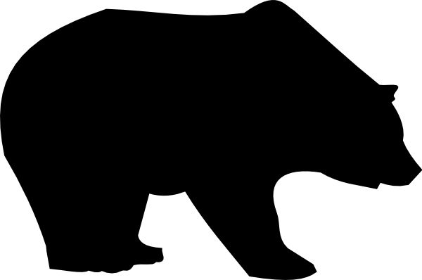 bear Silhouette  | bear silhouette clip art