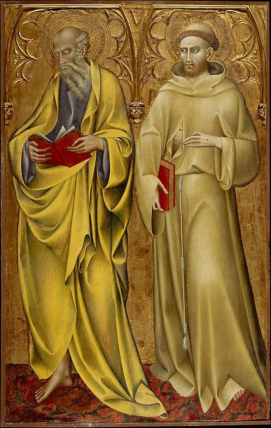 Saints Matthew and Francis. Giovanni di Paolo (Giovanni di Paolo di Grazia) (Italian, Siena 1398–1482 Siena). Date: mid-1430s. Medium: Tempera on wood, gold ground.