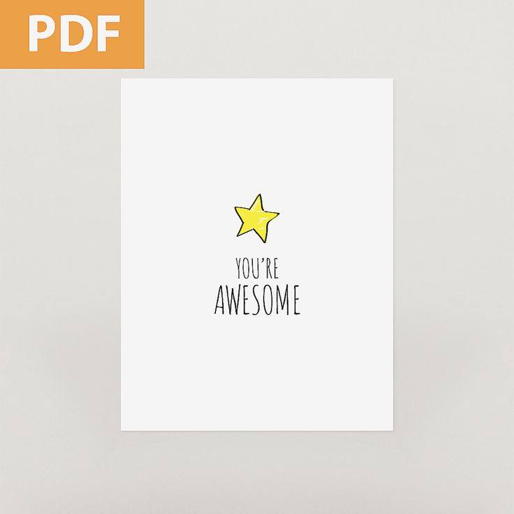 YOU'RE AWESOME cards and tags / redsandkids.com/store