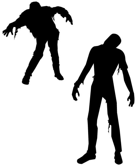 Free zombie silhouette vectors? Score!