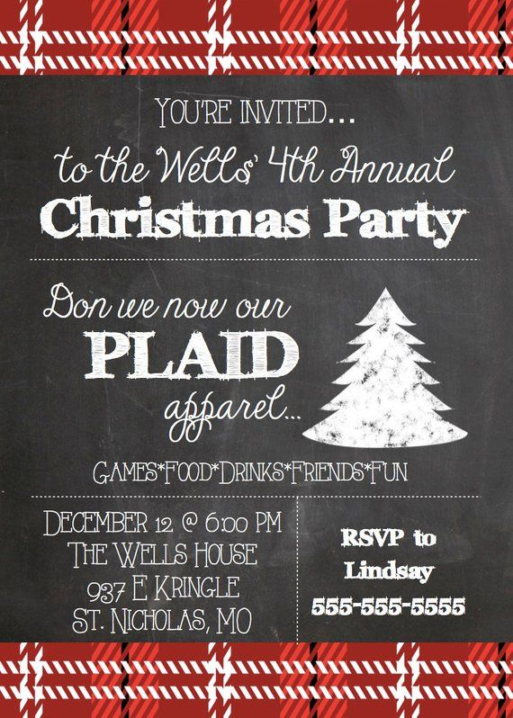 Printable Plaid Christmas Party Invitation Etsy In 2020 Christmas Party Invitations Work Christmas Party Holiday Party Themes