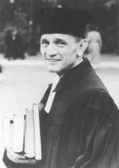 Martin Niemöller, a prominent Protestant pastor who opposed the Nazi regime. He spent the last seven years of Nazi rule in concentration camps. Germany, 1937.  — Bildarchiv Preussischer Kulturbesitz