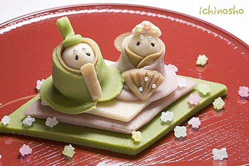 おひなさま和菓子デコレーション Hina dolls wagashi - Oh gosh- i wish i could make these :)