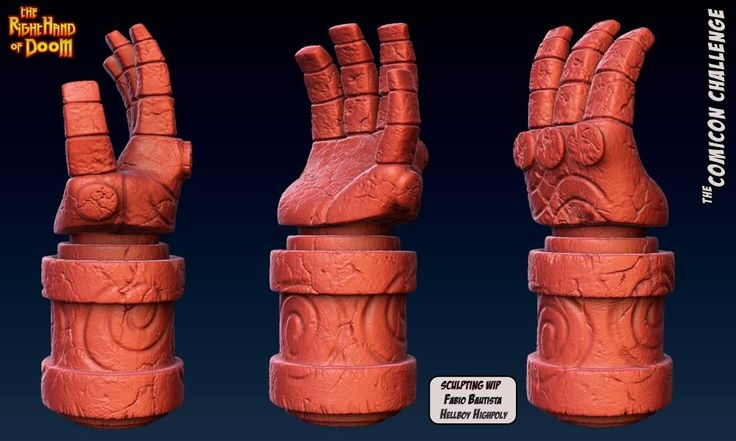 how to make hellboy hand