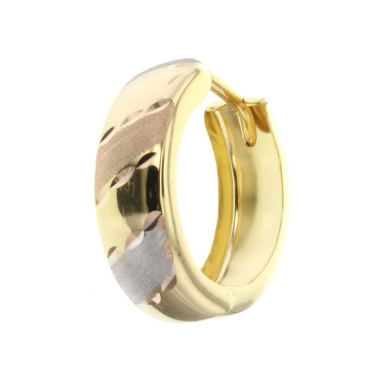 Buy our Australian made 9ct yellow & white gold huggie earring - PAIR - GM-EAR119 online. Explore our range of custom made chain jewellery, rings, pendants, earrings and charms.