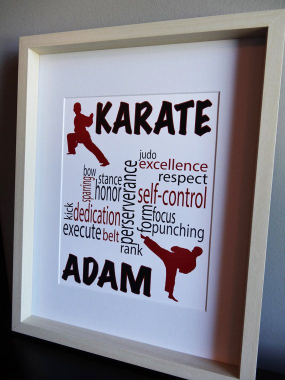 Personalized Karate Print, Boys Sports Room Decor, Karate Kid, Karate Girl,  Karate Poster, Taekwondo, Tae Kwon Do, You choose colors