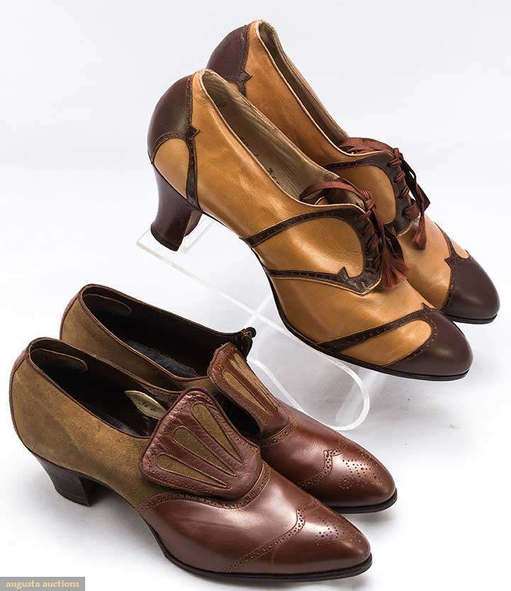 TWO PAIR LADIES SHOES, 1920s