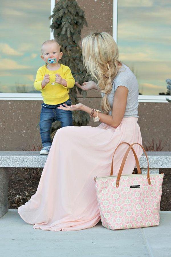 comment porter une jupe longue maxi rose