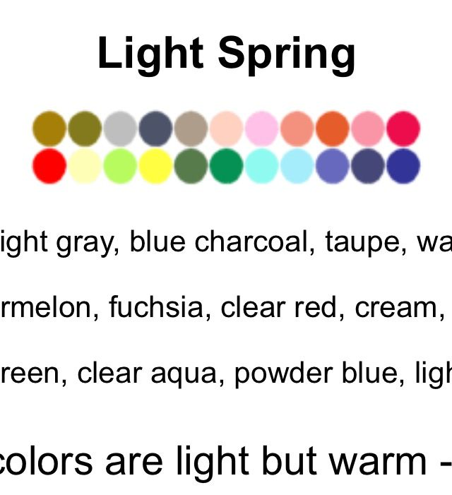 Light spring colors