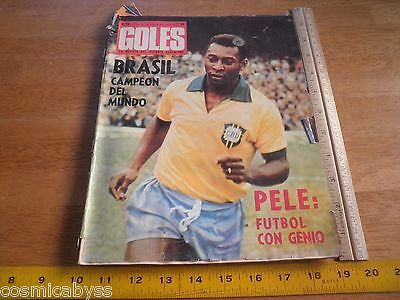 Goles Magazine Boca Soccer Argentia futbol 1970 World Cup Pele Brazil Italy