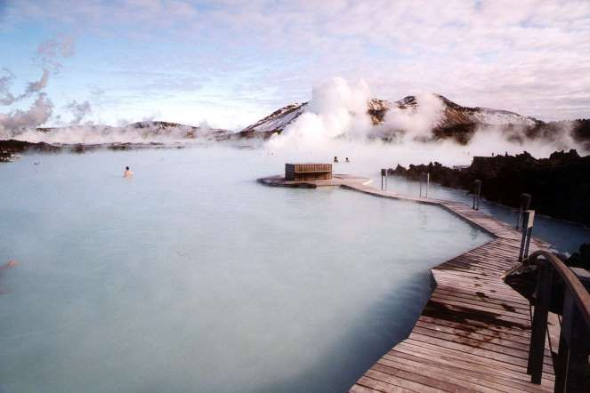 A thermal pool that appeared in 1976 as a result of a geothermal power plant, the Blue Lagoon also h... - AP Photo/Lisa Marie Pane