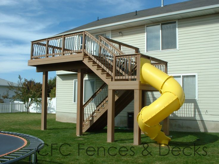 1000 images about decks on pinterest hot tub deck for Multi level patio designs