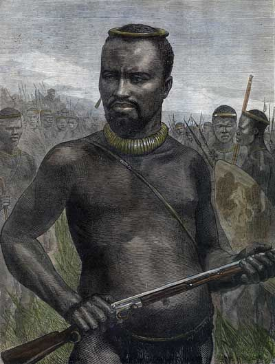 'Dabulamanzi', brother of King Cetshwayo and commander of the Zulu Army at Isandlwana where the Zulus massacred a battalion of the British Army: Picture by WIM Story (15).