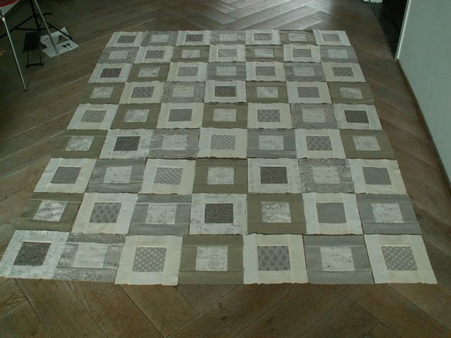 12 Grey-Creme lay-out by Alphenquilts, via Flickr