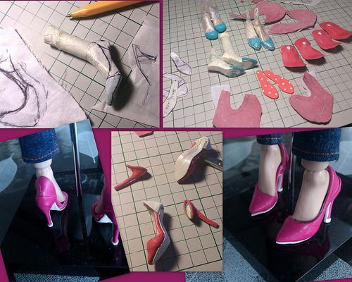 Fashion dolls shoes