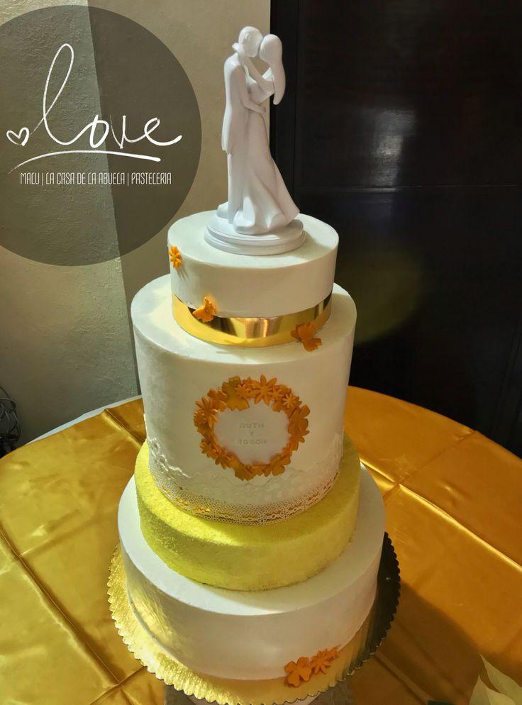 Cake Gold Wedding [Pastel de Bodas Dorado]