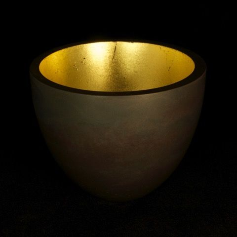 Cast iron crucible with gold leaf interior by Paul Mason @ Visual Culture December 2014