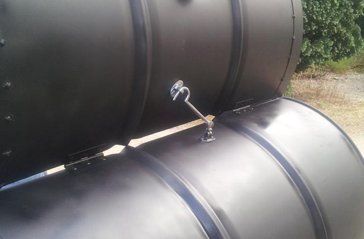 PD Grills Custom Oil Drum BBQ Smoker For Sale