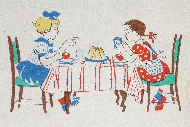 "illustration from ""Pöttyös Panni"" a Hungarian children's book, 1955"
