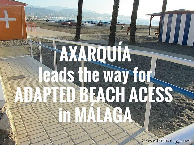 Axarquía leads the way for adapted beach access in Málaga
