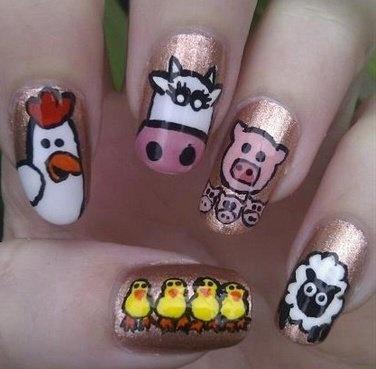 Barnyard Animals Nails