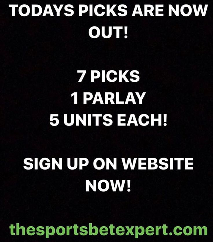 "25 Likes, 3 Comments - SportsBetExpert (@sportsbetexpert) on Instagram: ""TODAYS PICKS ARE OUT! DON'T MISS OUT! LETS HAVE ANOTHER GREAT DAY! GOOD LUCK TO ALL! Sign up now…"""