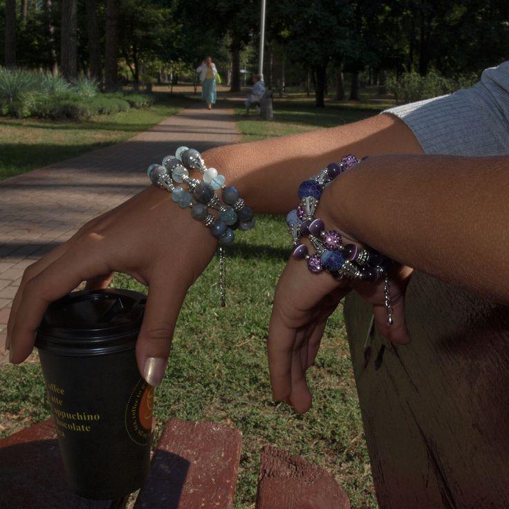 Тройные браслеты из натуральных камней в ассортименте. http://stefi.com.ua/