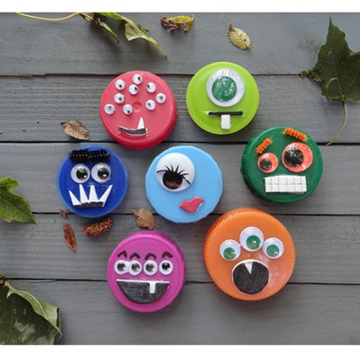 Reusing Plastic Bottle Caps | ecogreenlove