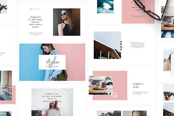 Ayka PowerPoint Template. Best PowerPoint templates for businesses like social media, marketing, branding, education, advertising. More #creative #powerpoint #templates for your #business you can download here ➝ https://creativemarket.com/templates/presentations?u=BarcelonaDesignShop
