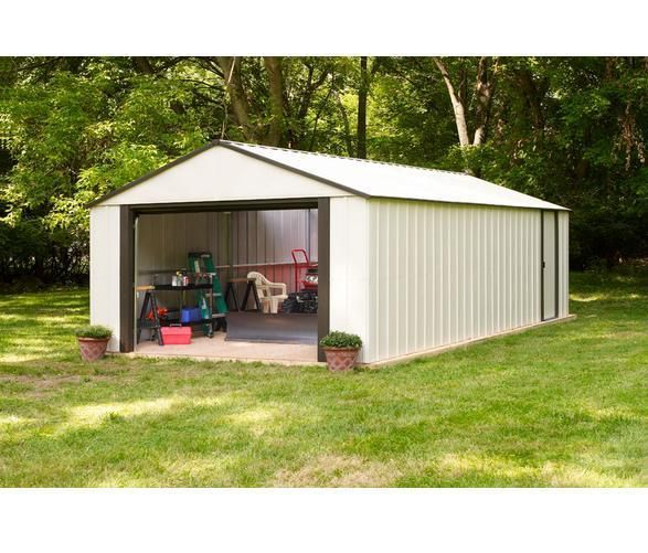 Arrow Vinyl Murryhill 12 X 17 Heavy Duty Building Vt1217 A Steel Storage Sheds Building A Shed Large Sheds