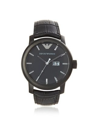 Emporio Armani Men's AR0496 Black Stainless Steel Watch