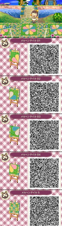 Animal Crossing New Leaf QR codes cute tile