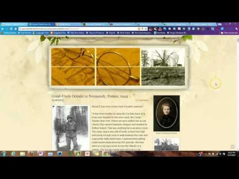 Build a Family History Website & Blog on Weebly tutorial