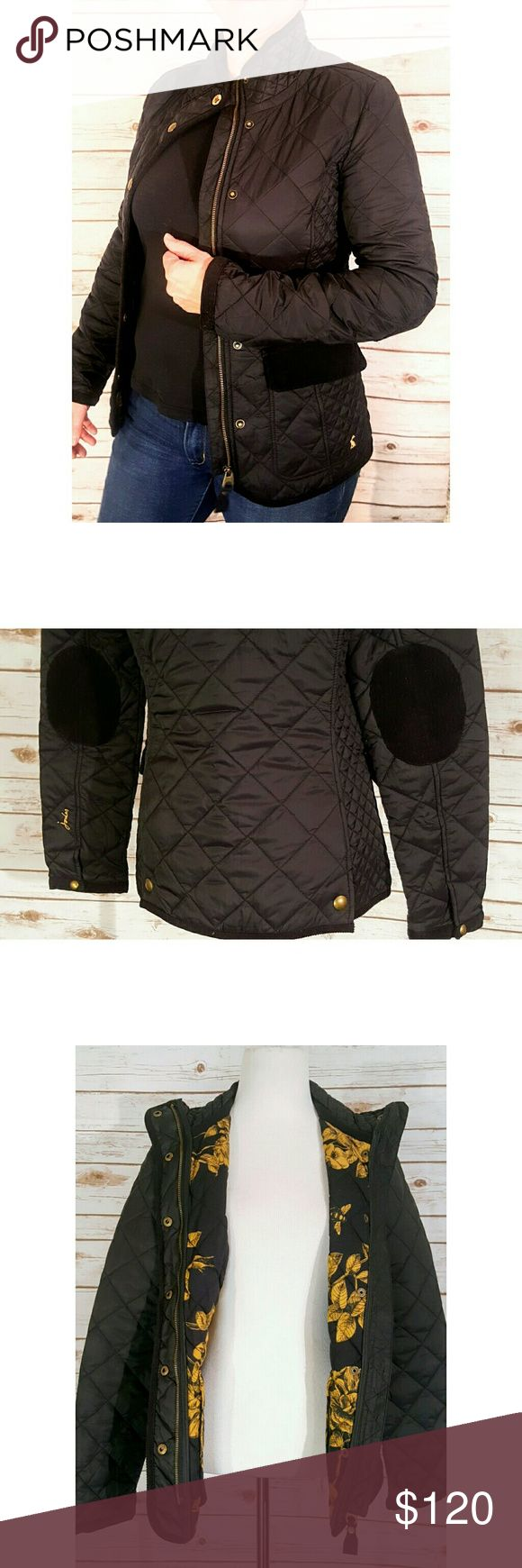 Joules Black Premium Quilted Zip Front Pea Coat Joules Black Luxury Quilted Zip Front Jacket Women's Size Medium Measurements on Request Excellent Like New Condition Condition Rank 9/10 Pre Owned Thanks We Ship Fast Updating New Items Daily Joules Jackets & Coats Pea Coats
