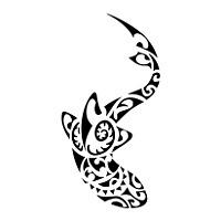 Polynesian shark tattoo flash tatoo