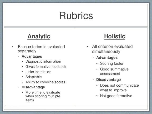 holistic rubric science