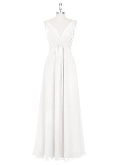 AZAZIE MAREN. Style Maren by Azazie is a floor-length A-line/princess bridesmaid dress in a comfortable chiffon. #Bridesmaid #Wedding #CustomDresses #AZAZIE